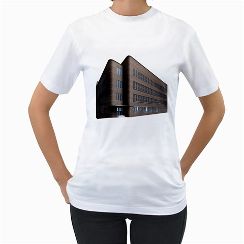 Office Building Villa Rendering Women s T-Shirt (White) (Two Sided)