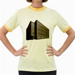 Office Building Villa Rendering Women s Fitted Ringer T-Shirts Front