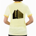 Office Building Villa Rendering Women s Fitted Ringer T-Shirts Back