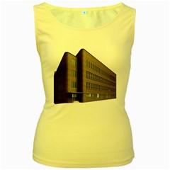 Office Building Villa Rendering Women s Yellow Tank Top