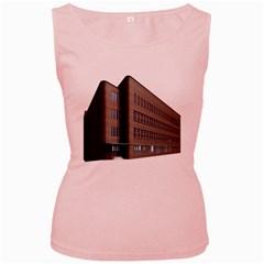 Office Building Villa Rendering Women s Pink Tank Top