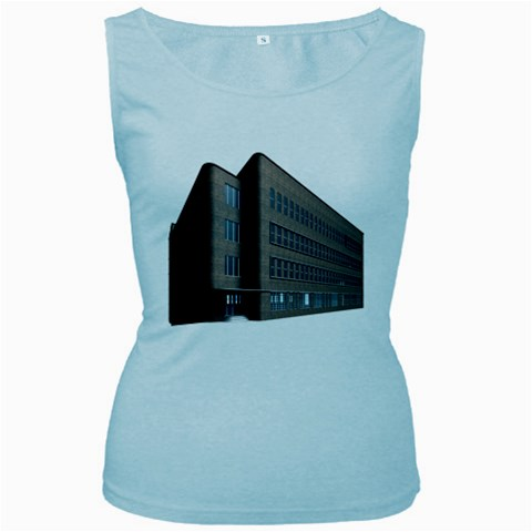 Office Building Villa Rendering Women s Baby Blue Tank Top