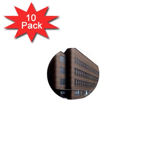 Office Building Villa Rendering 1  Mini Magnet (10 pack)