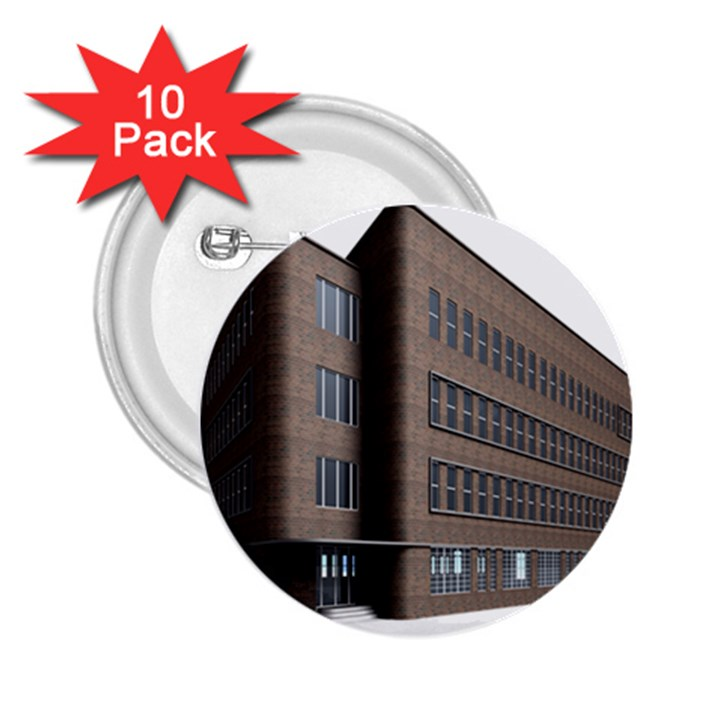 Office Building Villa Rendering 2.25  Buttons (10 pack)