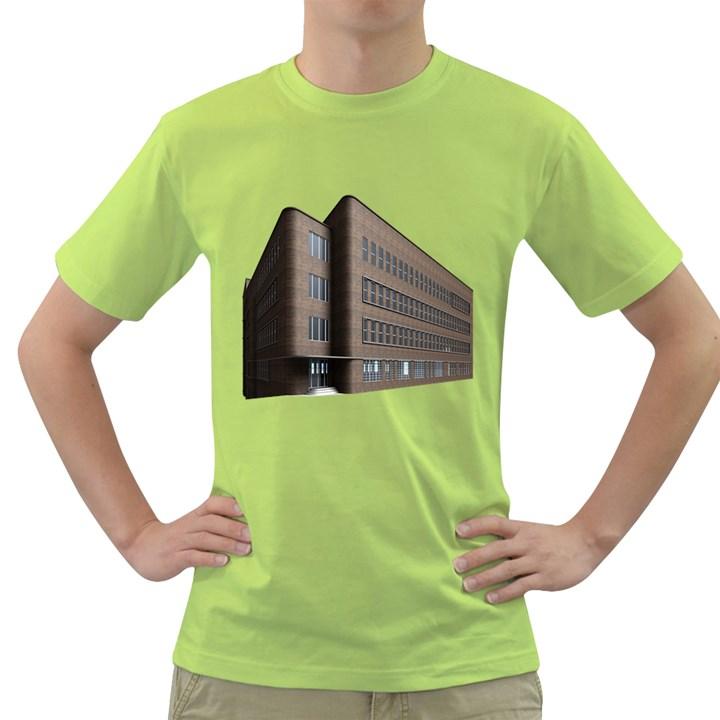 Office Building Villa Rendering Green T-Shirt