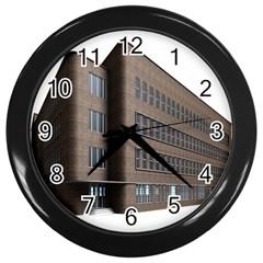 Office Building Villa Rendering Wall Clocks (Black)