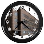 Office Building Villa Rendering Wall Clocks (Black) Front