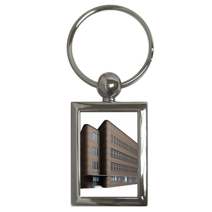 Office Building Villa Rendering Key Chains (Rectangle)