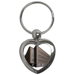 Office Building Villa Rendering Key Chains (Heart)