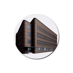 Office Building Villa Rendering Rubber Round Coaster (4 pack)