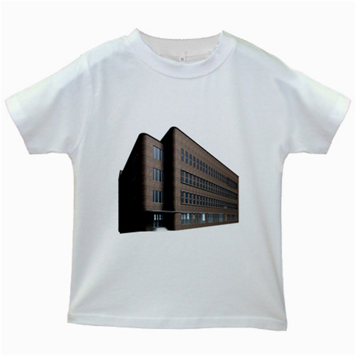 Office Building Villa Rendering Kids White T-Shirts