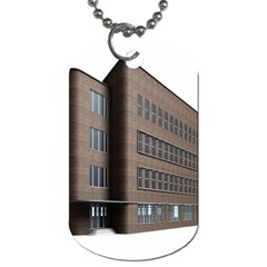 Office Building Villa Rendering Dog Tag (One Side)