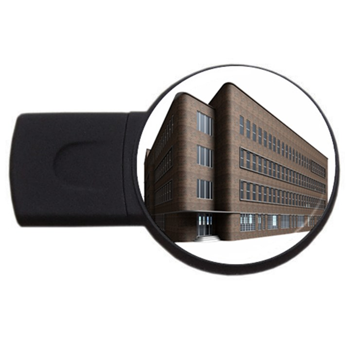Office Building Villa Rendering USB Flash Drive Round (1 GB)