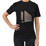 Office Building Villa Rendering Women s T-Shirt (Black) (Two Sided) Front