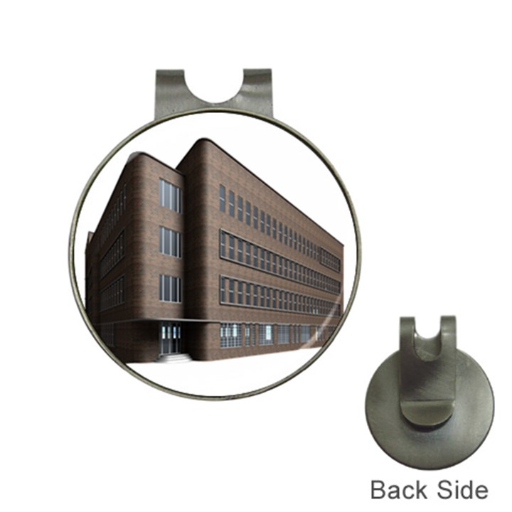 Office Building Villa Rendering Hat Clips with Golf Markers
