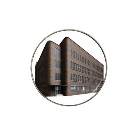 Office Building Villa Rendering Hat Clip Ball Marker (4 pack)