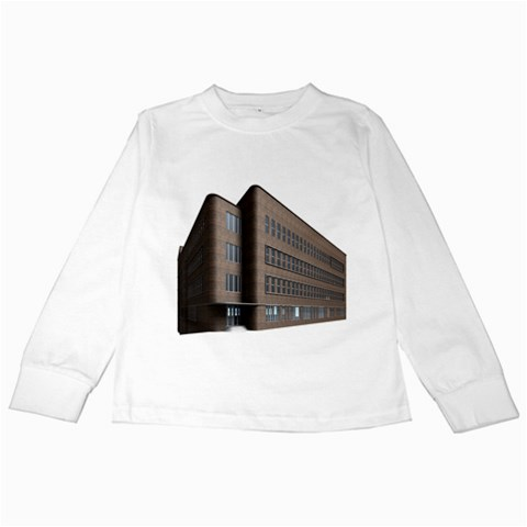 Office Building Villa Rendering Kids Long Sleeve T-Shirts