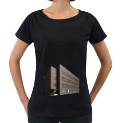 Office Building Villa Rendering Women s Loose-Fit T-Shirt (Black)