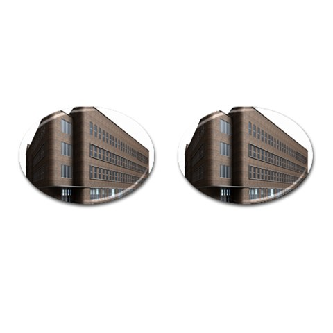 Office Building Villa Rendering Cufflinks (Oval)