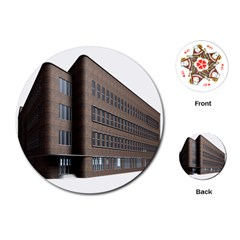 Office Building Villa Rendering Playing Cards (Round)