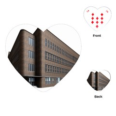 Office Building Villa Rendering Playing Cards (Heart)