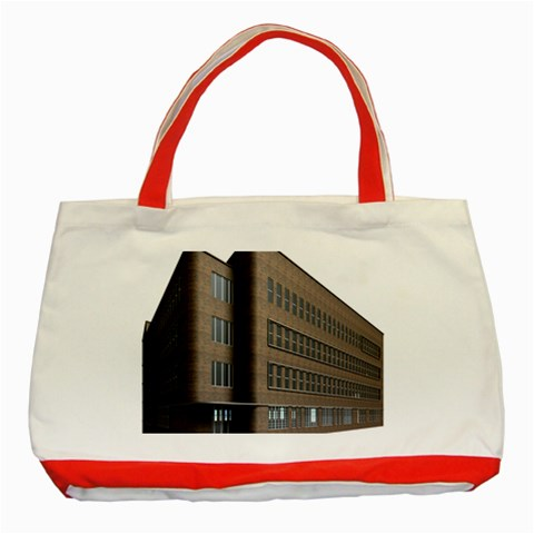 Office Building Villa Rendering Classic Tote Bag (Red)