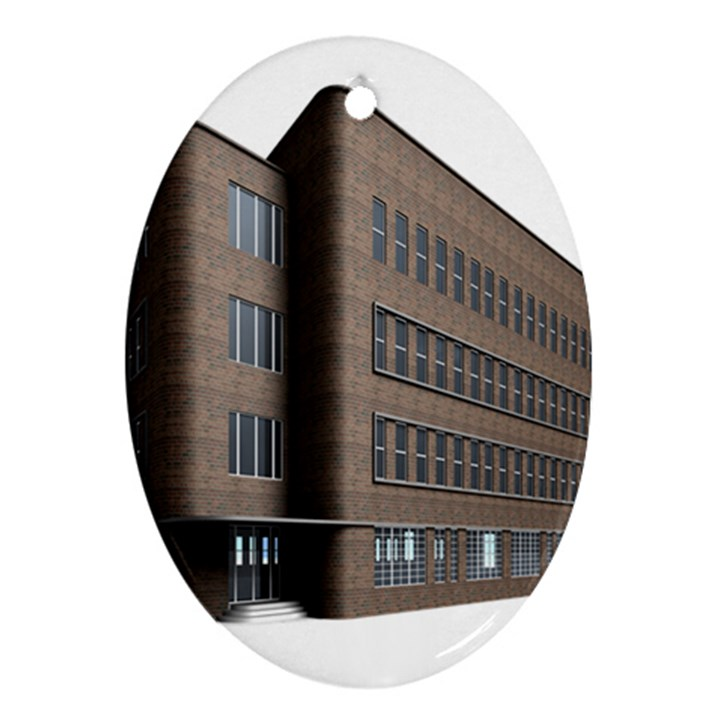 Office Building Villa Rendering Oval Ornament (Two Sides)