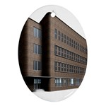 Office Building Villa Rendering Oval Ornament (Two Sides) Back