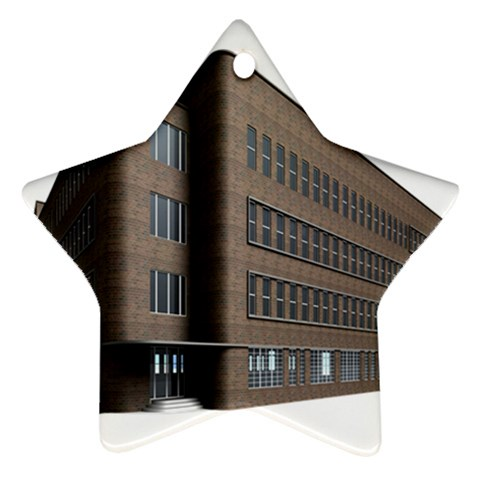 Office Building Villa Rendering Star Ornament (Two Sides)