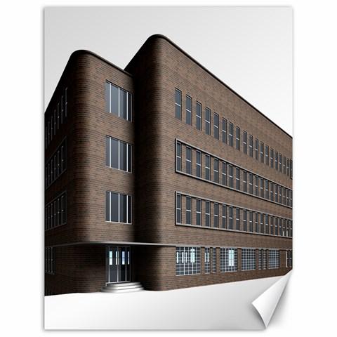 Office Building Villa Rendering Canvas 12  x 16