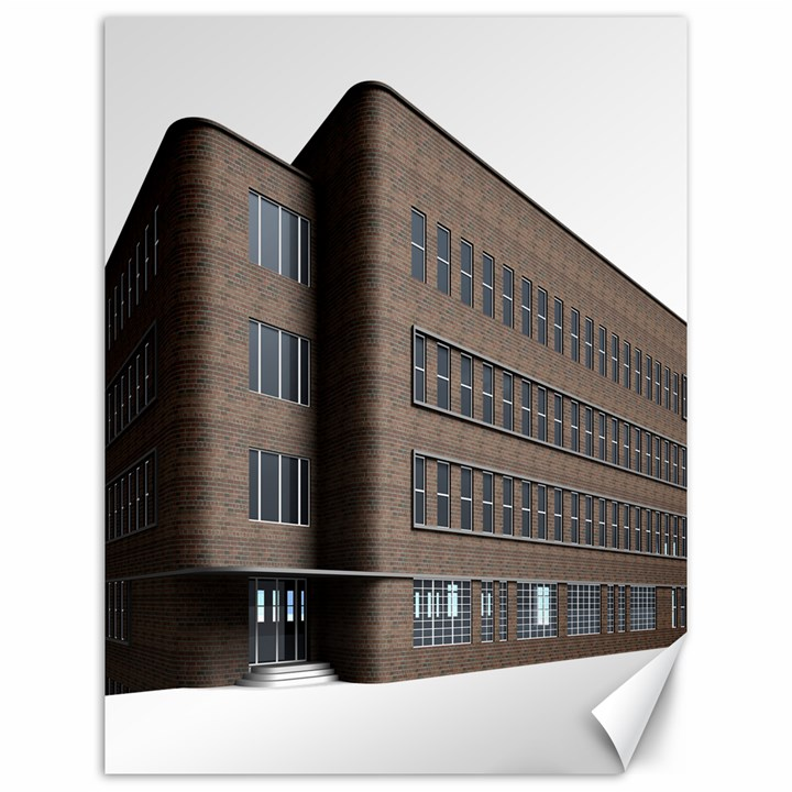 Office Building Villa Rendering Canvas 12  x 16