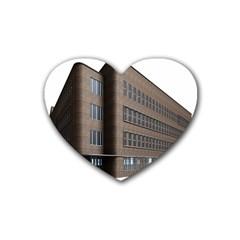 Office Building Villa Rendering Heart Coaster (4 pack)