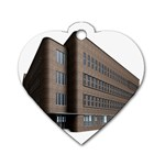 Office Building Villa Rendering Dog Tag Heart (Two Sides) Back