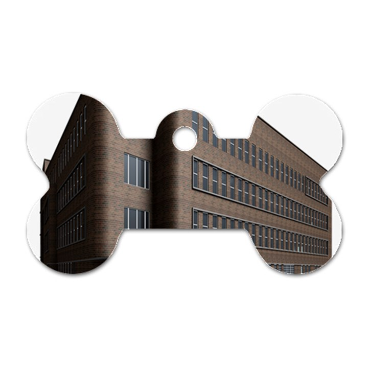 Office Building Villa Rendering Dog Tag Bone (One Side)
