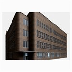 Office Building Villa Rendering Large Glasses Cloth Front