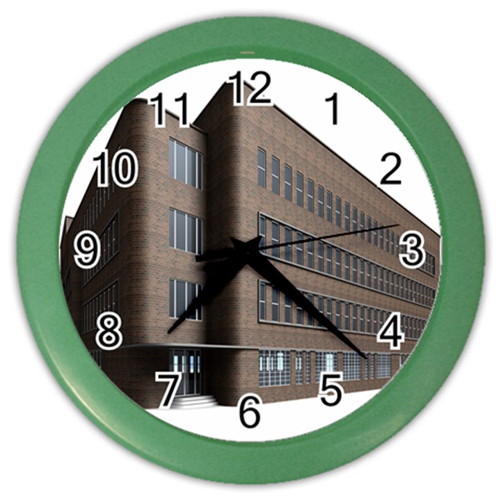 Office Building Villa Rendering Color Wall Clocks