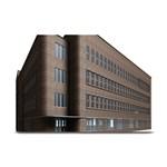 Office Building Villa Rendering Plate Mats 18 x12 Plate Mat - 1