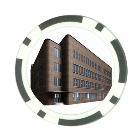 Office Building Villa Rendering Poker Chip Card Guards