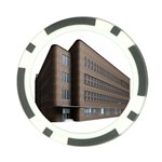 Office Building Villa Rendering Poker Chip Card Guards Back