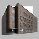 Office Building Villa Rendering Mini Canvas 4  x 4  4  x 4  x 0.875  Stretched Canvas