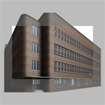 Office Building Villa Rendering Mini Canvas 6  x 4  6  x 4  x 0.875  Stretched Canvas