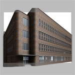 Office Building Villa Rendering Canvas 16  x 12  16  x 12  x 0.875  Stretched Canvas