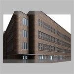 Office Building Villa Rendering Canvas 18  x 12  18  x 12  x 0.875  Stretched Canvas