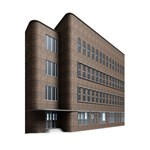 Office Building Villa Rendering 5.5  x 8.5  Notebooks Back Cover