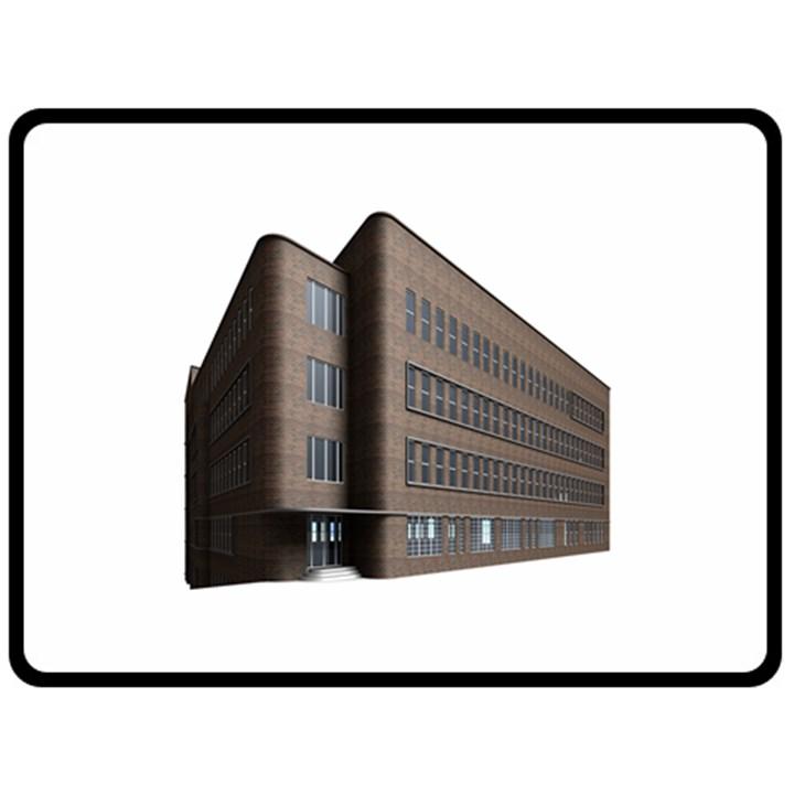 Office Building Villa Rendering Fleece Blanket (Large)