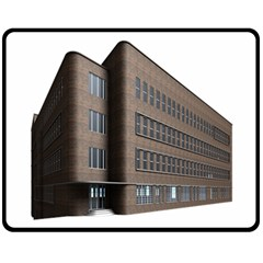 Office Building Villa Rendering Fleece Blanket (Medium)
