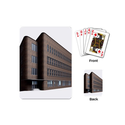 Office Building Villa Rendering Playing Cards (Mini)