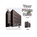 Office Building Villa Rendering Playing Cards 54 (Mini)  Front - Spade3