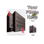 Office Building Villa Rendering Playing Cards 54 (Mini)  Front - Heart6