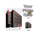Office Building Villa Rendering Playing Cards 54 (Mini)  Front - Heart7